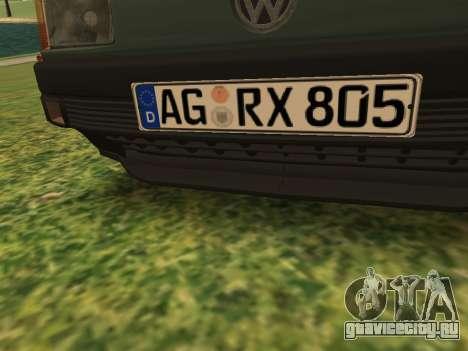 Volkswagen Passat B3 для GTA San Andreas вид снизу