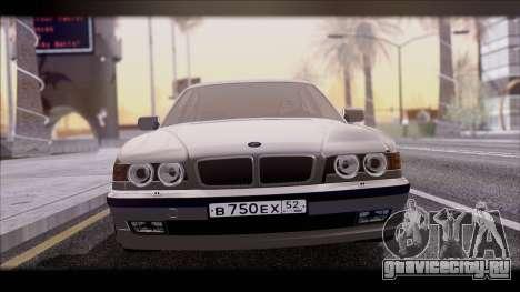 BMW 7-er E38 для GTA San Andreas вид сзади слева