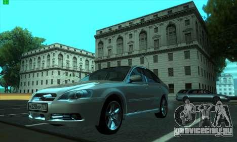 Subaru Legacy для GTA San Andreas вид слева