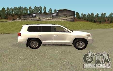 Toyota Land Cruiser 200 Bulkin Edition для GTA San Andreas вид сзади слева