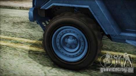 GTA 5 HVY Insurgent Pick-Up IVF для GTA San Andreas вид сзади слева