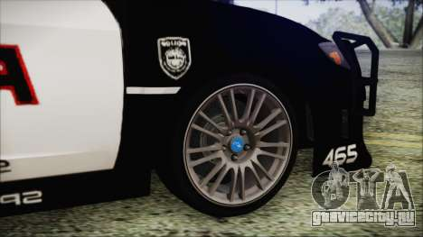 Subaru Impreza Police для GTA San Andreas вид сзади слева