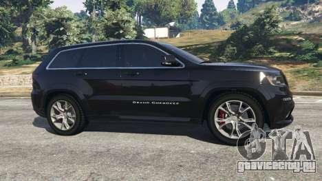 Jeep Grand Cherokee SRT8 2013 для GTA 5 вид слева