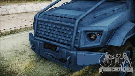 GTA 5 HVY Insurgent Pick-Up IVF для GTA San Andreas вид изнутри