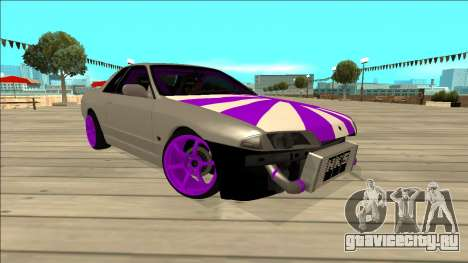 Nissan Skyline R32 Drift для GTA San Andreas вид сзади