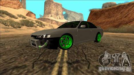 Nissan Silvia S14 Drift Monster Energy для GTA San Andreas вид справа