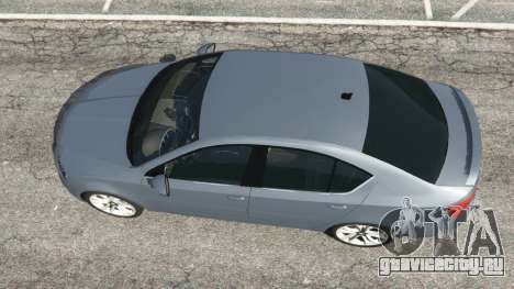 Skoda Octavia VRS 2014 [hatchback] для GTA 5 вид сзади