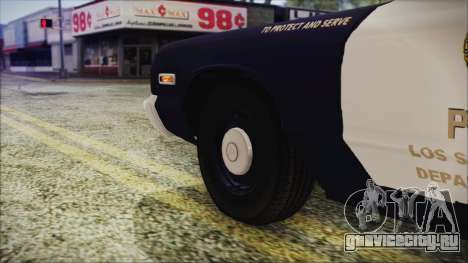 Dodge Monaco 1974 LSPD Highway Patrol Version для GTA San Andreas вид сзади слева