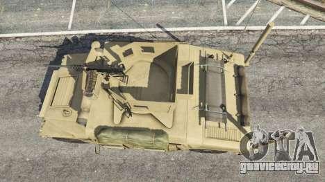 HMMWV M-1116 [desert] для GTA 5 вид сзади