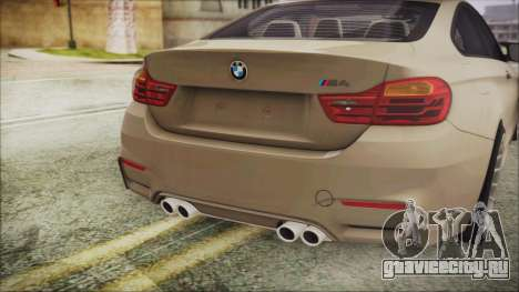 BMW M4 Coupe для GTA San Andreas вид сзади
