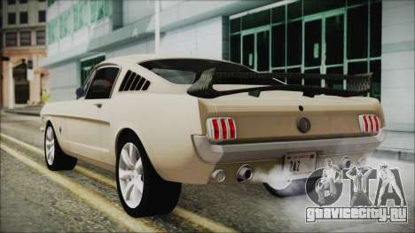Ford Mustang Fastback 1966 Chrome Edition для GTA San Andreas вид слева