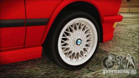 BMW M5 E28 1988 для GTA San Andreas вид сзади слева