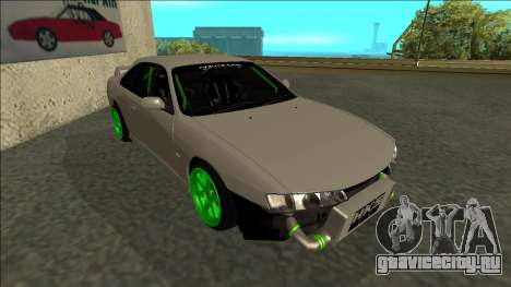 Nissan Silvia S14 Drift Monster Energy для GTA San Andreas вид слева