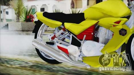 Yamaha Tuning Full Cromo для GTA San Andreas вид справа