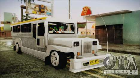 Markshop Jeepney для GTA San Andreas