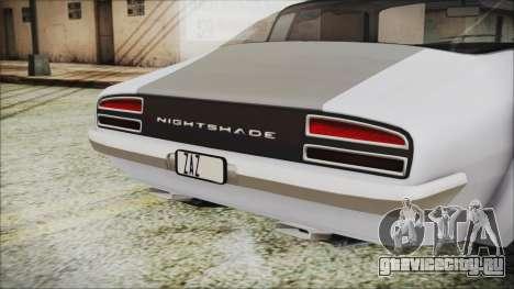 Imponte Nightshade для GTA San Andreas вид сзади