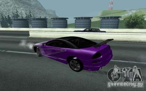 Mitsubishi Eclipse GTS Tunable для GTA San Andreas вид сзади