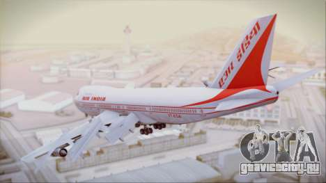 Boeing 747-237Bs Air India Samudragupta для GTA San Andreas вид слева