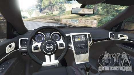 Jeep Grand Cherokee SRT8 2013 для GTA 5 вид сзади справа