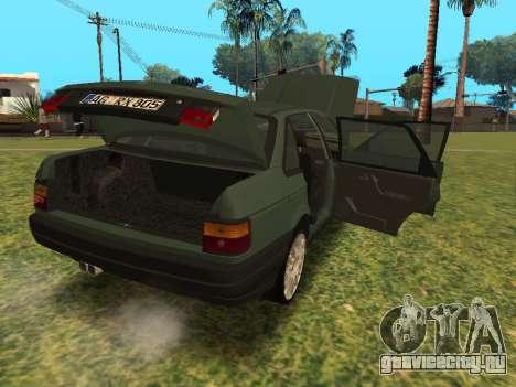 Volkswagen Passat B3 для GTA San Andreas вид сзади