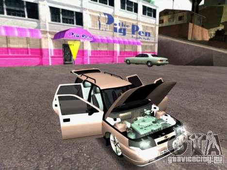 ВАЗ 2111 Tuning для GTA San Andreas вид изнутри