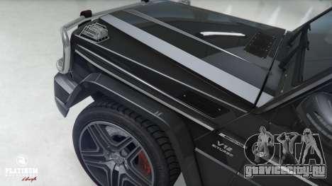 Mercedes-Benz G63 AMG v1 для GTA 5 вид спереди справа