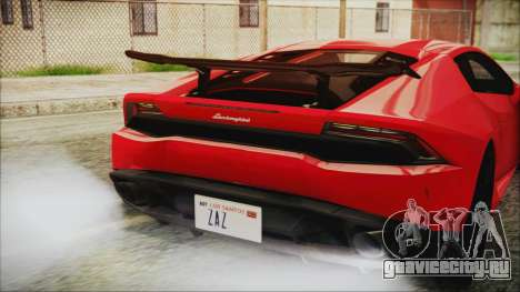 Lamborghini Huracan LP610-4 Novitec Torado 2015 для GTA San Andreas вид изнутри