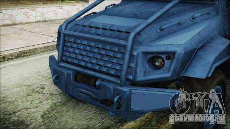 GTA 5 HVY Insurgent Pick-Up IVF для GTA San Andreas вид сзади