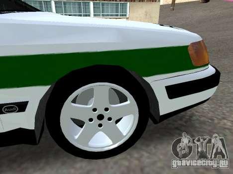 Audi 100 C4 1995 Police для GTA San Andreas вид справа