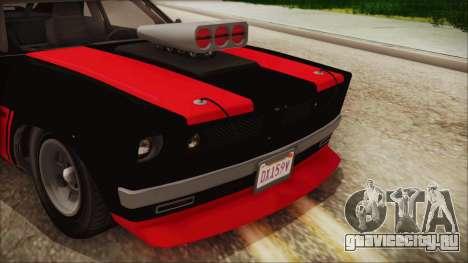 GTA 5 Declasse Tampa IVF для GTA San Andreas вид сзади