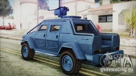 GTA 5 HVY Insurgent Pick-Up IVF для GTA San Andreas вид слева