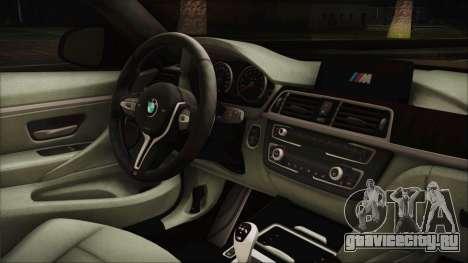 BMW M4 Coupe для GTA San Andreas вид справа