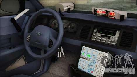 Ford Crown Victoria Miami Dade v2.0 для GTA San Andreas вид справа