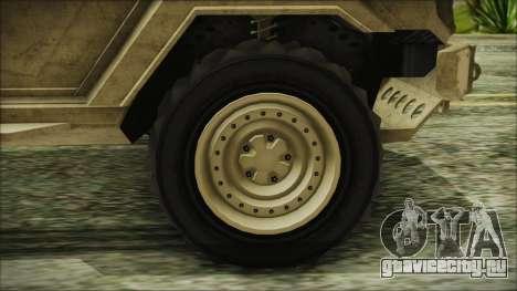 GTA 5 HVY Insurgent Van для GTA San Andreas вид сзади слева