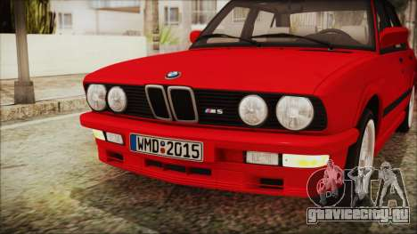 BMW M5 E28 1988 для GTA San Andreas вид изнутри