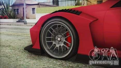 Benefactor Feltzer Super Sport для GTA San Andreas вид сзади слева