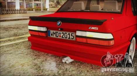 BMW M5 E28 1988 для GTA San Andreas вид сверху