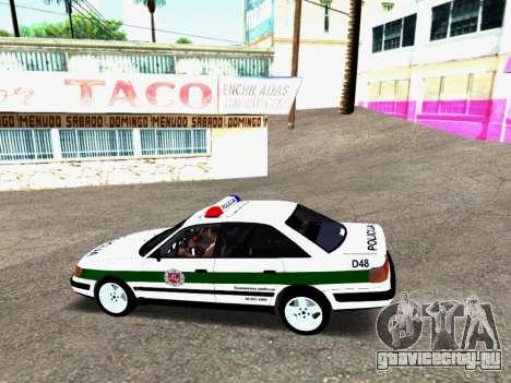 Audi 100 C4 1995 Police для GTA San Andreas вид сзади слева