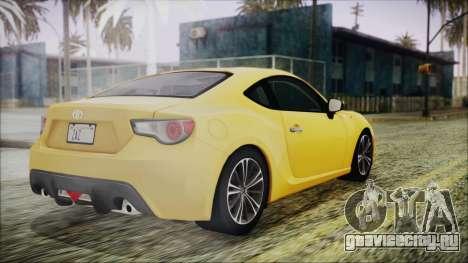Toyota GT86 (ZN6) 2012 HD Algeria PJ для GTA San Andreas вид слева