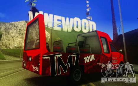 TMZ Tourbus для GTA San Andreas вид сзади слева