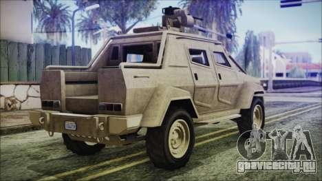 GTA 5 HVY Insurgent Pick-Up для GTA San Andreas вид слева