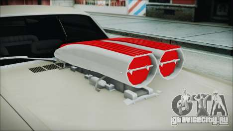 Ford Mustang Fastback 1966 Chrome Edition для GTA San Andreas вид сзади