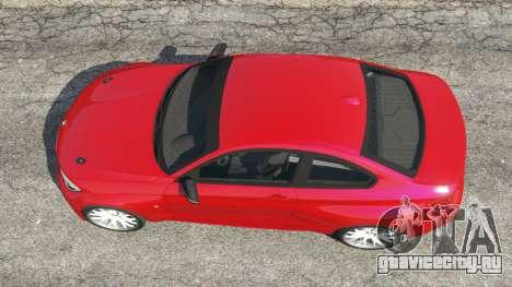 BMW M235i (F22) 2014 для GTA 5 вид сзади