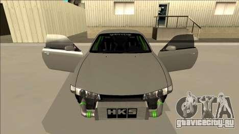 Nissan Silvia S14 Drift Monster Energy для GTA San Andreas вид сверху