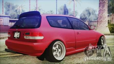 Honda Civic EG6 Hellaflush для GTA San Andreas вид слева