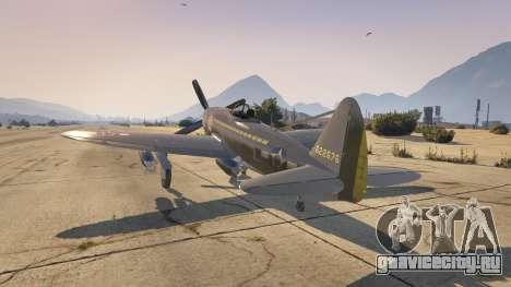 P-47D Thunderbolt для GTA 5 второй скриншот