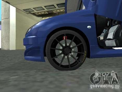 Pegeout 206 PickUP для GTA San Andreas вид сзади слева