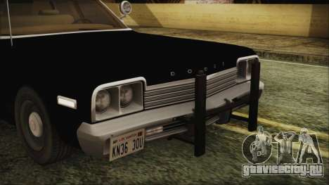 Dodge Monaco 1974 LVPD IVF для GTA San Andreas вид изнутри