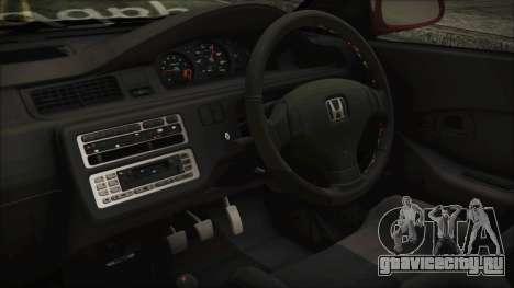 Honda Civic EG6 Hellaflush для GTA San Andreas вид справа