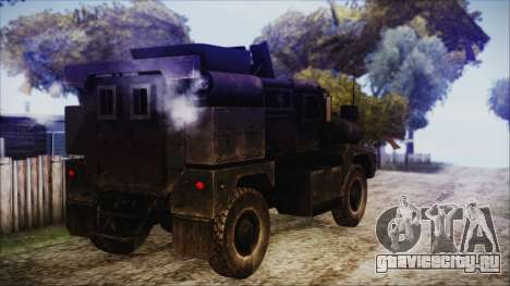 Cougar MRAP 4x4 для GTA San Andreas вид слева